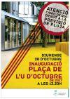 Inauguració Plaça U Octubre 2017